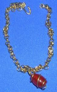 Carnelian Drop Bracelet